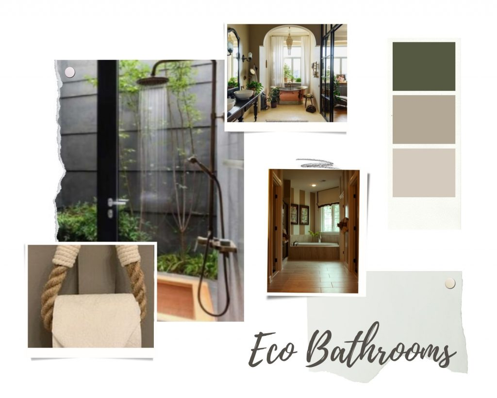 Green-and-Brown-Realistic-Interior-Design-Moodboard-Photo-Collage-for-bathrooms