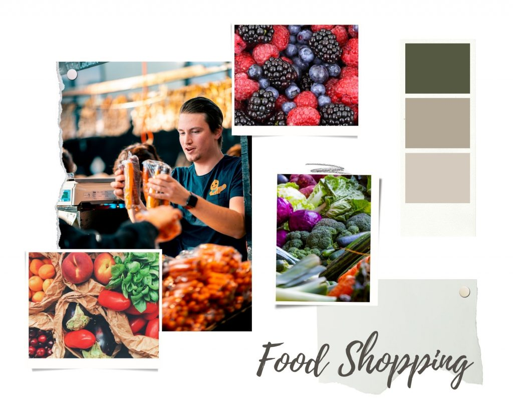 Green-and-Brown-Realistic-Interior-Design-Moodboard-Photo-Collage-for-food-shopping