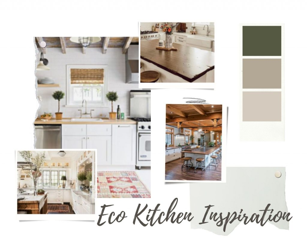 Green-and-Brown-Realistic-Interior-Design-Moodboard-Photo-Collage-for-kitchen
