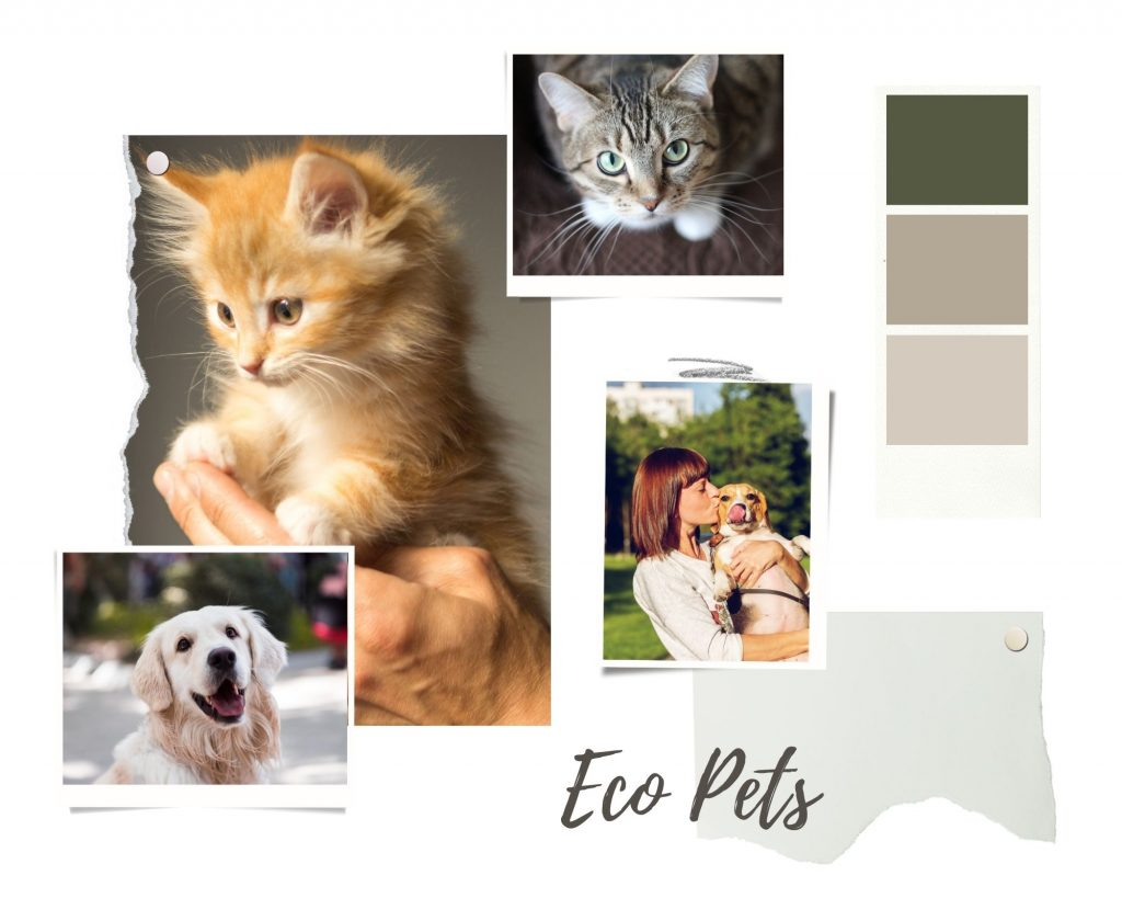 Green-and-Brown-Realistic-Interior-Design-Moodboard-Photo-Collage-for-pets.