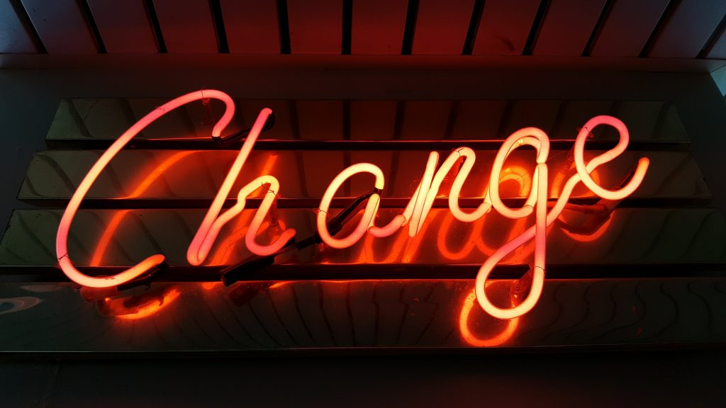 change neon sign message