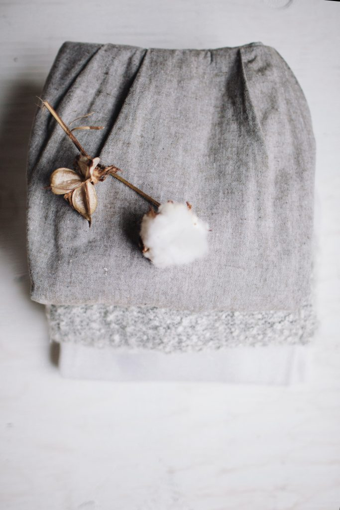 cotton plant on a cotton skirt